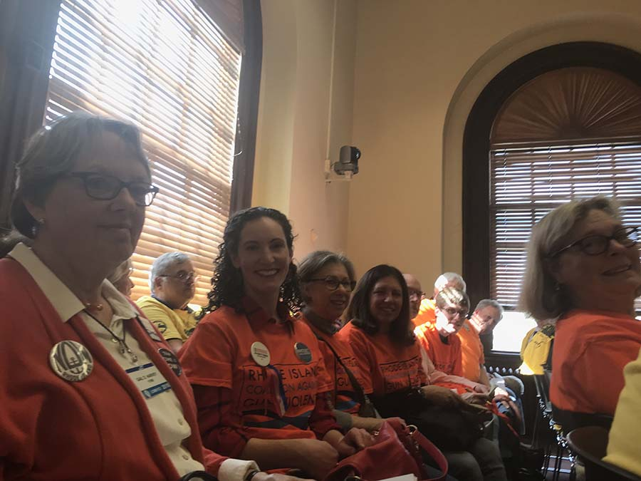 Gun Safety Supporters at State House Hearings
