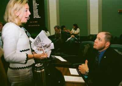 RICAGV Lobbying Lawmakers for The Safe Schools Act in 2018