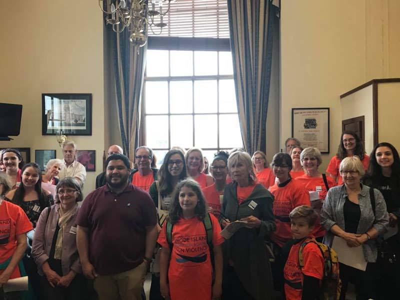 RICAGV volunteers lobby state senators and reps for common sense gun control May 2018