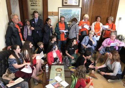 RICAGV volunteers lobby state senators and reps for common sense gun control May 2018