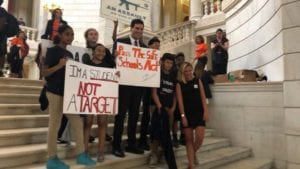 RI Students Demand Safe Schools Act at State House June 14, 2018