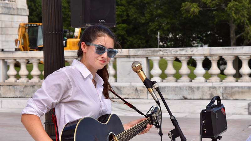 Abby Constantino - YCAGV Student Power Rally - August 2018 - RI State House