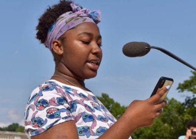 Eugenie from Breakthrough PVD - YCAGV Student Power Rally - August 2018 - RI State House