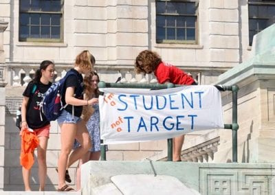 RI Students are not targets - YCAGV Student Power Rally - August 2018 - RI State House