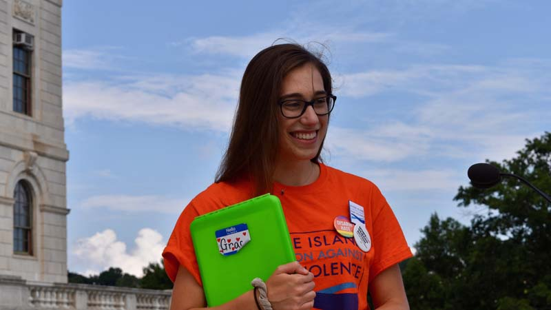 Grace Reed - YCAGV Student Power Rally - August 2018 - RI State House