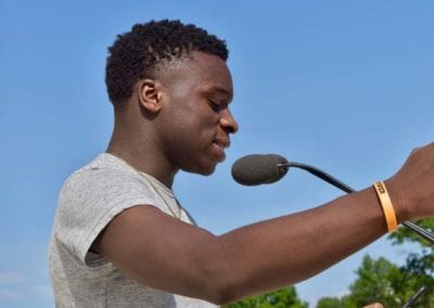 Raphael Williams from Breakthrough PVD - YCAGV Student Power Rally - August 2018 - RI State House