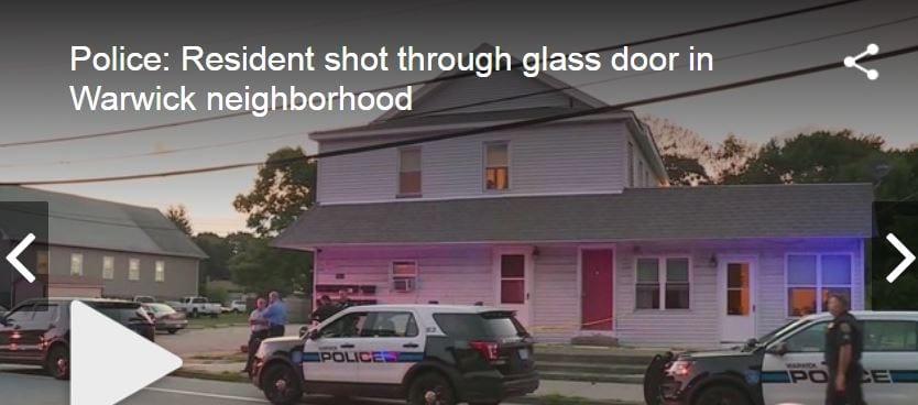 Warwick Resident Shot Through Front Door