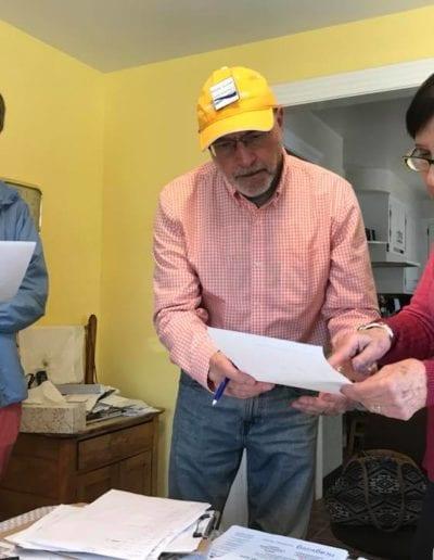 June 2018 - Organizing neighborhood canvass in District 15, Cranston