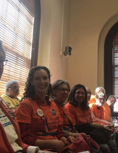 April 2018 - RICAGV Supporters at House Committee Hearings on Gun Safety Reform