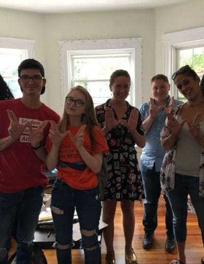 August 2018 - Canvassing for Gun Safety Candidates Across RI