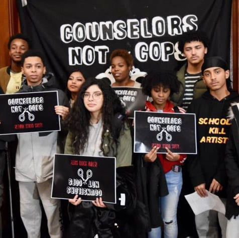 December 2018 - Counselors Not Cops, RI State House.2
