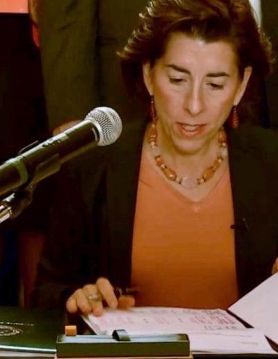 June 2018 - Gov. Raimondo signs Red Flag Bill, RI State House