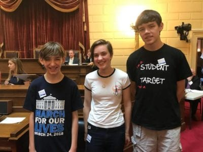June 2018 - RI Student Activists at Lobby Day, RI State HOuse