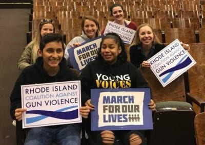 15 - OCT 2018 Organized 25 RICAGV youth members to participate in discussion with Parkland survivors