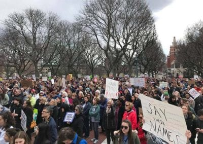 4 - MAR 2018 Thousands attend Providence March for Our Lives rally at the State House, supported in part by RICAGV