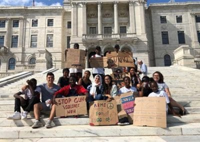6 - JUL 2018 Led meetings with Providence-based youth groups to organize around gun violence prevention
