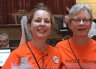 RICAGV Supporters at Lobby Day - RI State House June 2018