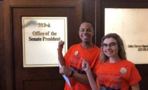 Students lobbying for gun safety April 2019