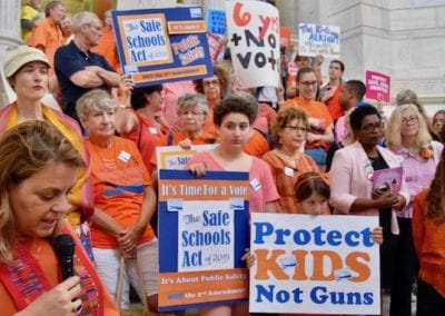 Faith Leaders at the RICAGV Rally for The Safe Schools Act, June 11 2019 at the RI State House