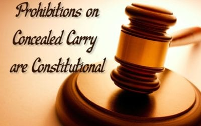 Gun Control IS Constitutional