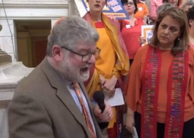 Rabbi Jeffrey Goldwasser at The Safe Schools Act Rally at the RI State House June 11 2019