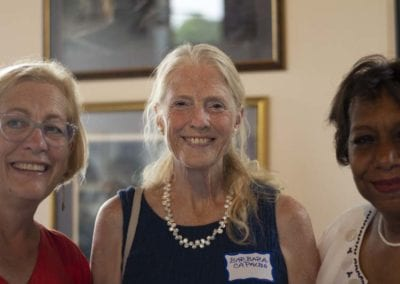 Hopkinton Town Council Members Barbara Capalbo and Sharon Davis with Linda Finn