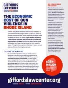 Cost of Gun Violence in RI
