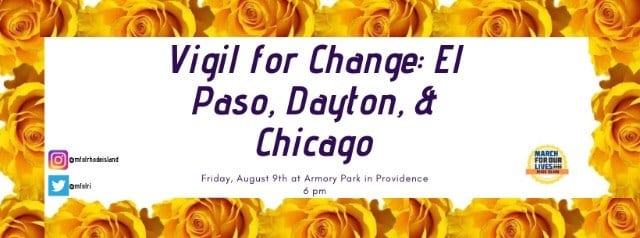Vigil for Change - RICAGV August 9 2019 - Armory Park Providence RI