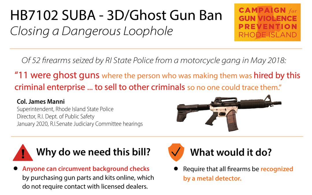 RI House Votes to Ban Ghost Guns 60-6