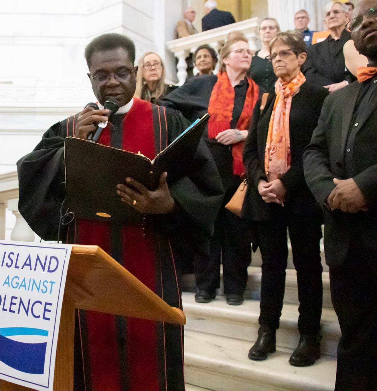 Rev. Howard Jenkins Speaking at the Valentine's Not Gun Violence Rally Feb 13 2020