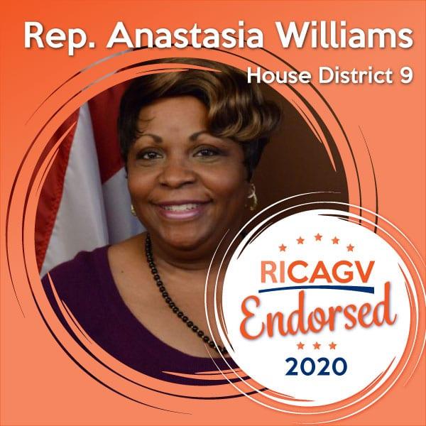 RICAGV endorses Rep. Anastasia Williams
