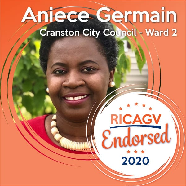 RICAGV endorses Aniece Germain for Cranston City Council