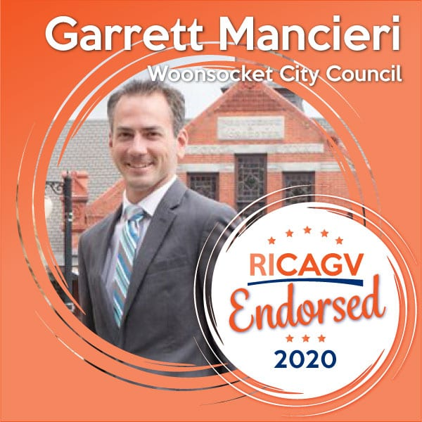 RICAGV endorses Garret Mancieri for Woonsocket City Council