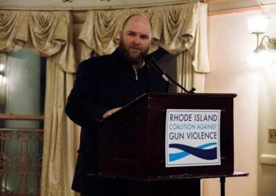 PJ Fox speakes at the 2019 RICAGV Annual Fundraiser