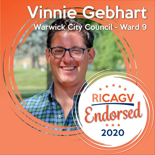 RICAGV endorses Vinnie Gebhart for Warwick City Council