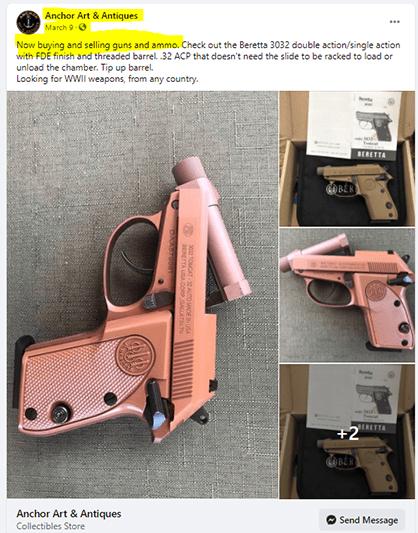 Illegal gun shop near Warwick Neck Elementary School