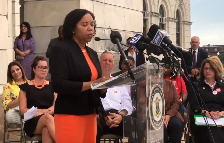 Lt. Gov. Sabina Matos supports gun safety reform bills
