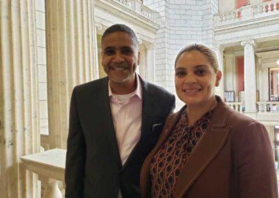 Mayor Maria Rivera and Cedric Huntley, Director of the Nonviolence Institute