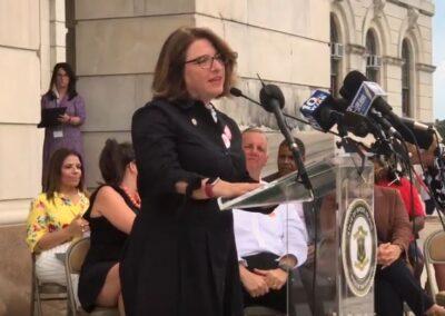 Sen. Gayle Goldin, sponsor of bill to limit magazine capacity