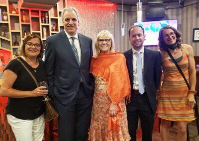 Atty. Gen. Peter Neronha, Sydney, Ginny, Liz, Blake - RICAGV Moms Demand Action RI Thank You Party 2021