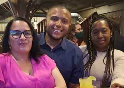 Travis, Diana, Maria - RICAGV Moms Demand Action RI Thank You Party 2021