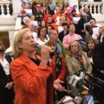 Linda at RI State House